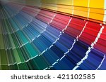 close up of color guide spread... | Shutterstock . vector #421102585