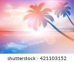 beach sunset summer background
