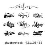 personal name mason. vector... | Shutterstock .eps vector #421105486