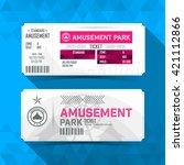 amusement park ticket card.... | Shutterstock .eps vector #421112866