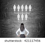 delegate concept with... | Shutterstock . vector #421117456