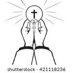 holy communion vector | Shutterstock .eps vector #421118236