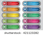 colorful modern text box... | Shutterstock .eps vector #421123282
