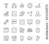 networking cool vector icons 1 | Shutterstock .eps vector #421124572