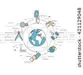 vector illustration represents... | Shutterstock .eps vector #421129048