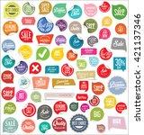 modern badges collection | Shutterstock .eps vector #421137346