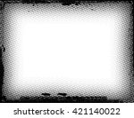 grunge border frame | Shutterstock .eps vector #421140022