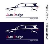 vector company logo icon... | Shutterstock .eps vector #421144252