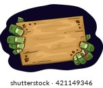 illustration of a zombie... | Shutterstock .eps vector #421149346