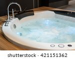White Round Jacuzzi With...