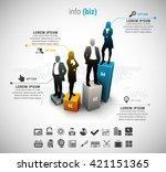 vector illustration of business ... | Shutterstock .eps vector #421151365