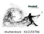 silhouette of a baseball player ... | Shutterstock .eps vector #421153786