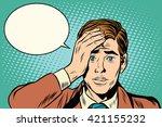 memory businessman remembered | Shutterstock .eps vector #421155232