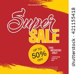 super sale banner | Shutterstock .eps vector #421155418