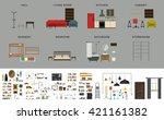 furniture interior elements.... | Shutterstock .eps vector #421161382