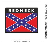 redneck patch | Shutterstock .eps vector #421162042