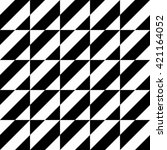black and white geometric...   Shutterstock .eps vector #421164052