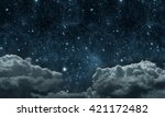 backgrounds night sky with... | Shutterstock . vector #421172482