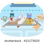 illustration featuring a sink...   Shutterstock .eps vector #421173025