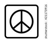 peace sign    black vector icon | Shutterstock .eps vector #421173916