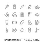 simple set of pills related... | Shutterstock .eps vector #421177282