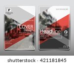 red magazine annual report...   Shutterstock .eps vector #421181845