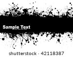black ink splat background with ... | Shutterstock . vector #42118387
