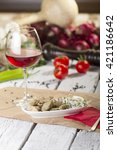chicken liver with wine and... | Shutterstock . vector #421186642