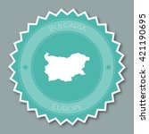 bulgaria badge flat design.... | Shutterstock .eps vector #421190695