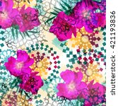 Seamless Pattern With Flowers....