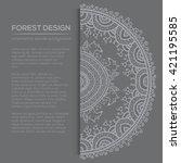 vector round mandala design in... | Shutterstock .eps vector #421195585