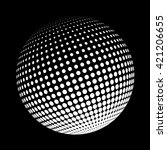 halftone logo template. white... | Shutterstock .eps vector #421206655