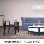modern interior design of... | Shutterstock . vector #421215742