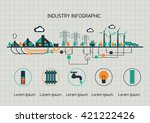 infographic template.  the... | Shutterstock .eps vector #421222426