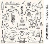 sea life  ocean trip  summer... | Shutterstock .eps vector #421222468