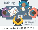 business training concept.... | Shutterstock .eps vector #421231312