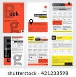 set of flyer  brochure design... | Shutterstock .eps vector #421233598