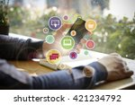 application software icons on... | Shutterstock . vector #421234792