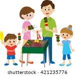 family  bbq | Shutterstock . vector #421235776