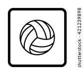volleyball ball    black vector ... | Shutterstock .eps vector #421239898
