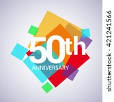 50th years anniversary logo ... | Shutterstock .eps vector #421241566