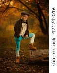 stylish fashionable young boy... | Shutterstock . vector #421242016