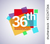 36th Anniversary Logo  36 Year...