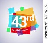 43rd Anniversary Logo  43 Year...