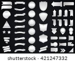 banner vector icon set silver... | Shutterstock .eps vector #421247332