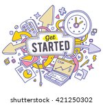 vector colorful illustration of ... | Shutterstock .eps vector #421250302