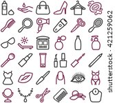 beauty icons collection  ... | Shutterstock .eps vector #421259062
