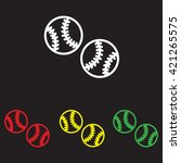 web line icon. baseball | Shutterstock .eps vector #421265575