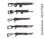 shotguns  vector set. | Shutterstock .eps vector #421277062