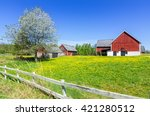 swedish spring farm with...   Shutterstock . vector #421280512